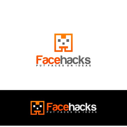 Design a terrific logo for Facehacks, a service that hacks faces