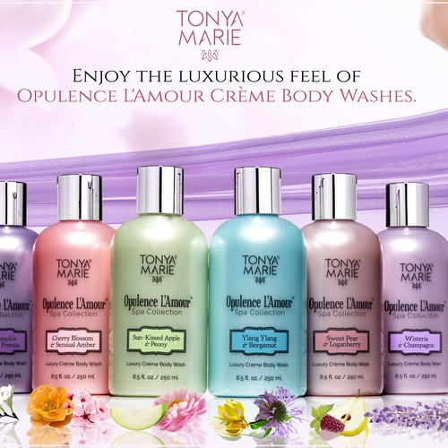 Winning design for Tonya Marie Opulence L'amour Body Wash commercial image :)