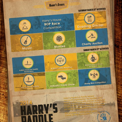 Help Harry's Paddle 2014 with a new design