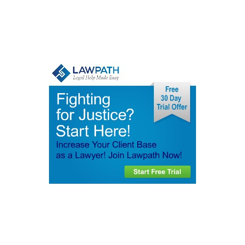 Create an amazing display ad theme for LawPath, an online legal website, Sydney