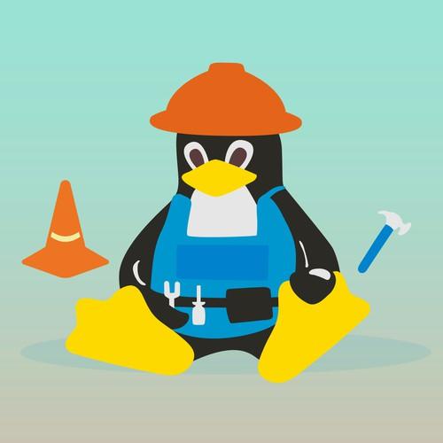 Builder Penguin Vector Flat