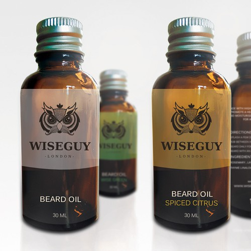 Winner design for Wiseguy beard oil