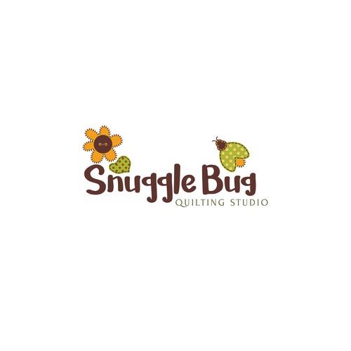 fun logo concept for snuggle bug studio