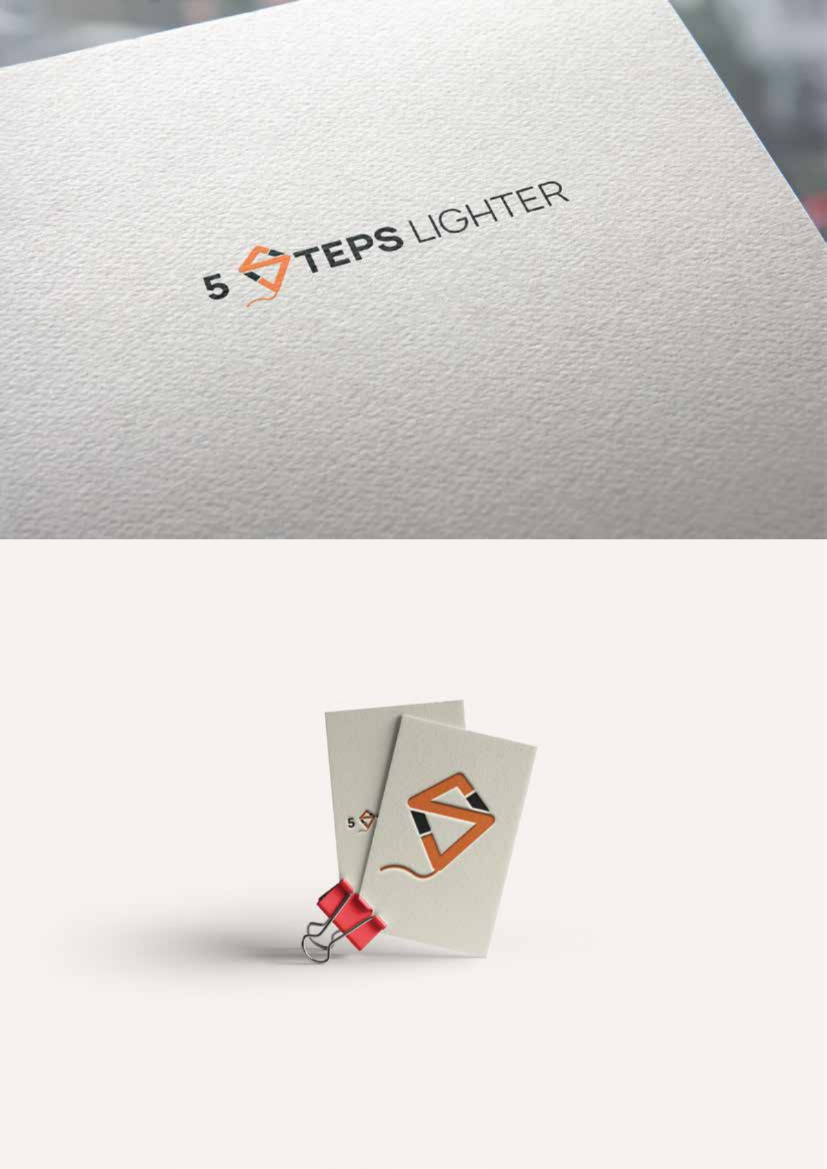 Logo and online branding material for weight loss business
