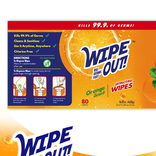 wipes label design