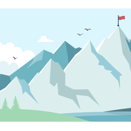 Mountains landscape illustration