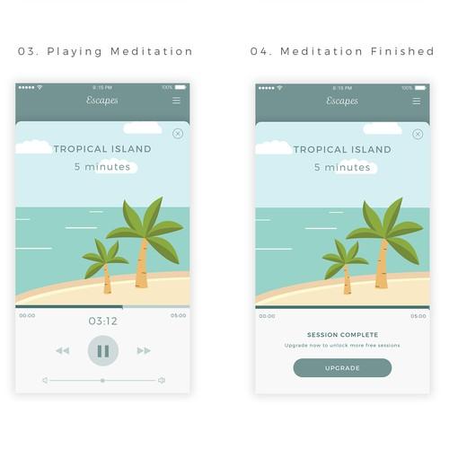 Meditation App UI Design