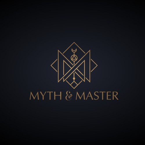 Mystical hipster jewelry line logo