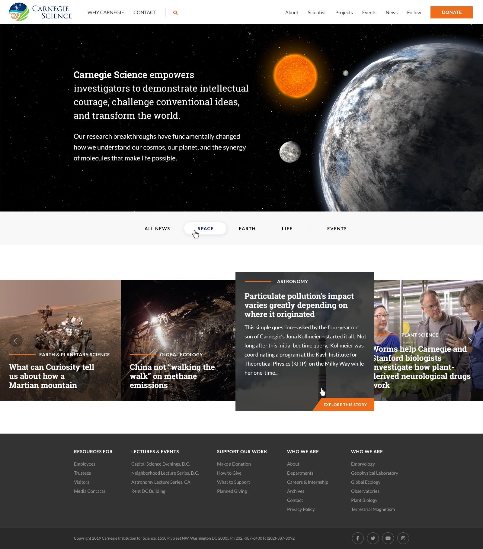 Groundbreaking Science Landing Page