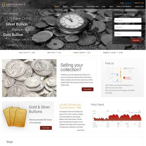 Christopher's Coin Website Design Winning Design