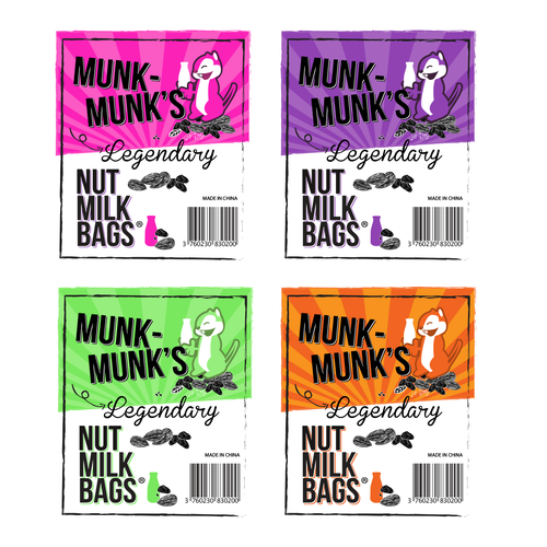 "Design Legendary Nut Milk Bag Label (5""Wx6""H)"