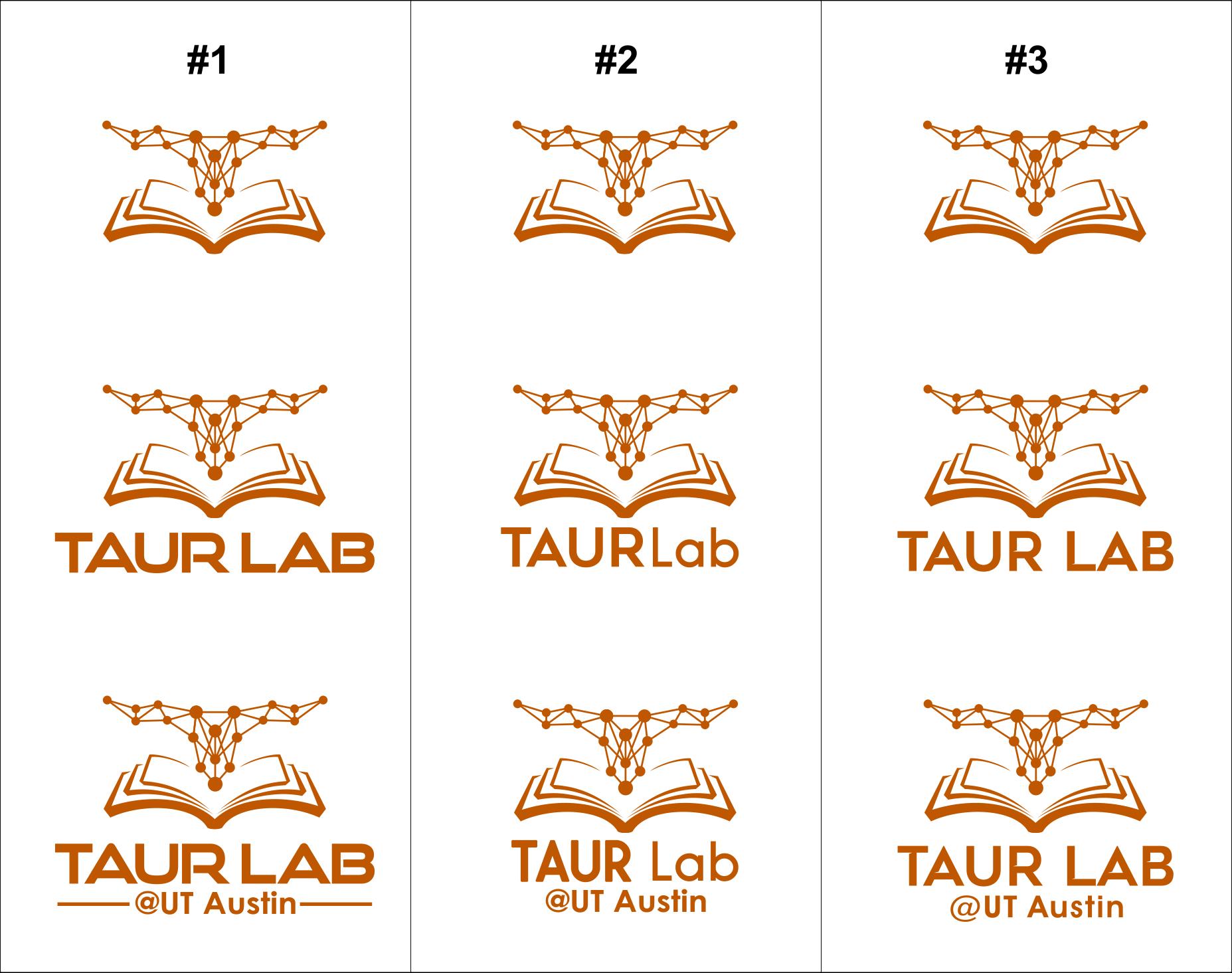 Clean, sleek academic logo for comp sci research lab @ UT Austin