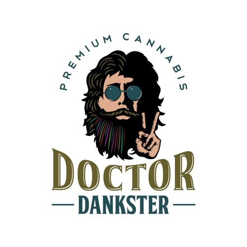 Cool logo of Doctor Dankster