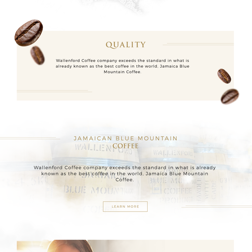 Luxury coffee homepage