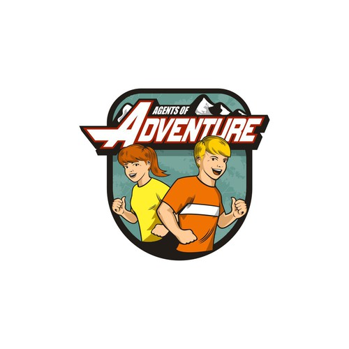 Create a fun adventure logo for a youth fitness website!