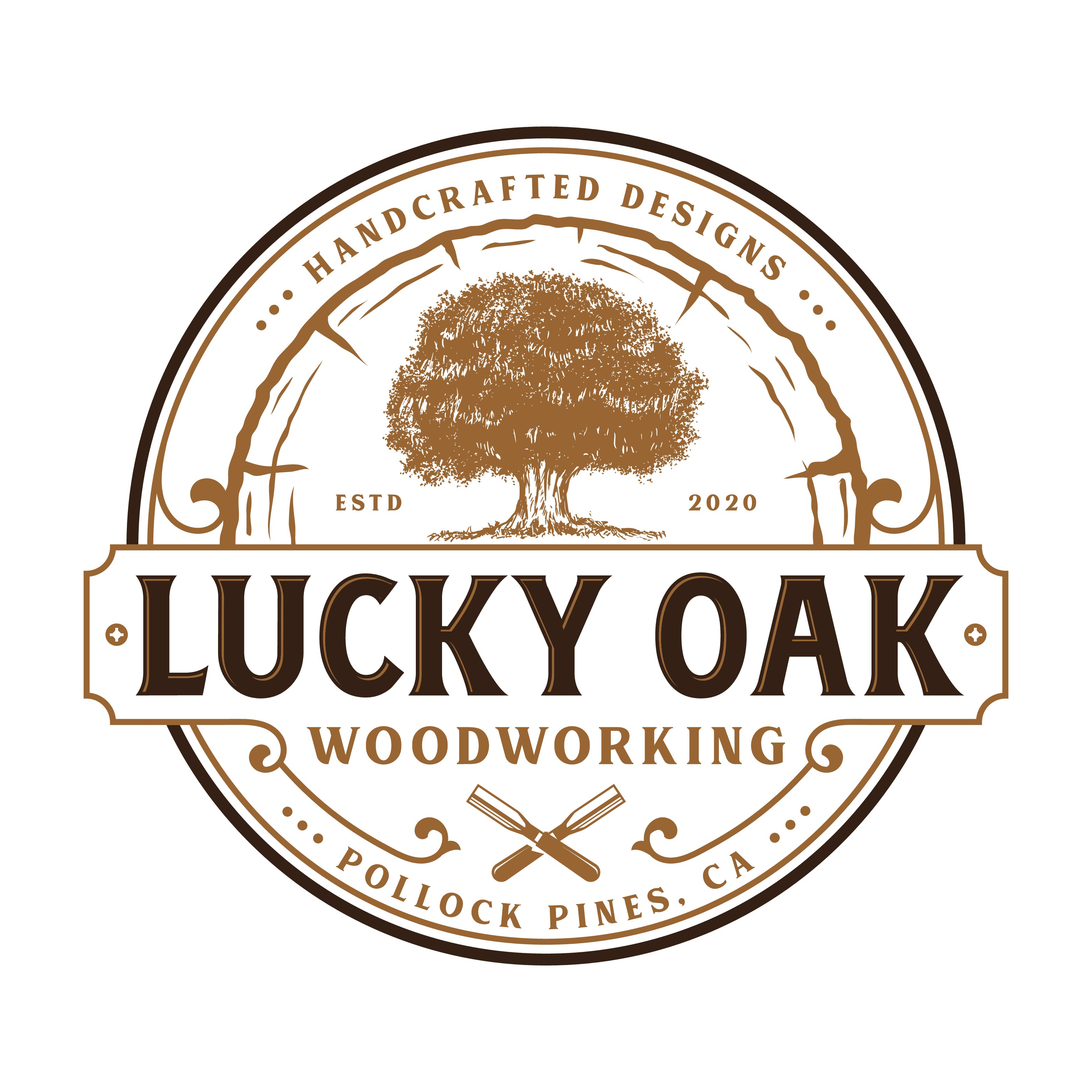 Timeless and sophisticated logo for a custom woodworking shop.