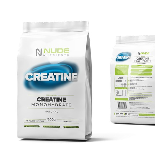Nude Nutrients -  Product Packaging Design