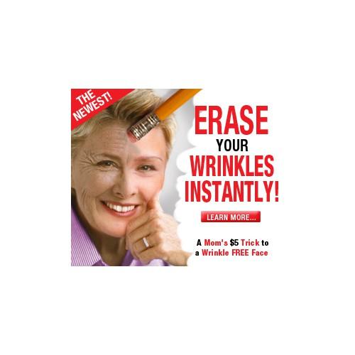 Wrinkle Product needs SHOCKING Banner Ad to get Eyeballs & Clicks!
