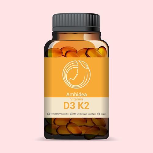 label for vitamin D3 K2