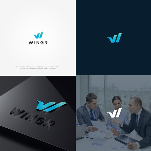 Simple & Modern logo for B2B company