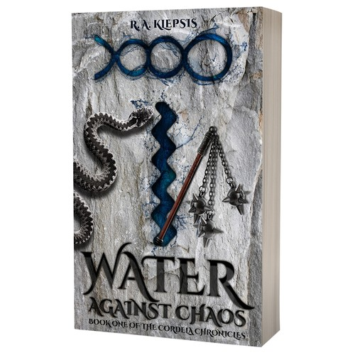 Book cover design - Water Against Chaos by R.A.Klepsis