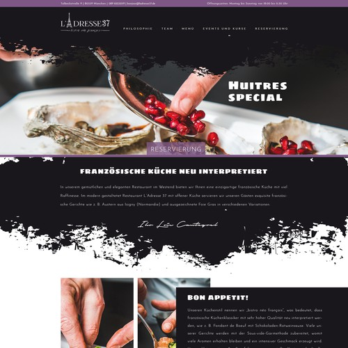 web design for a french bistrot/restaurant