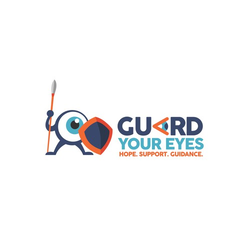 Logo and character design for Guard your eyes