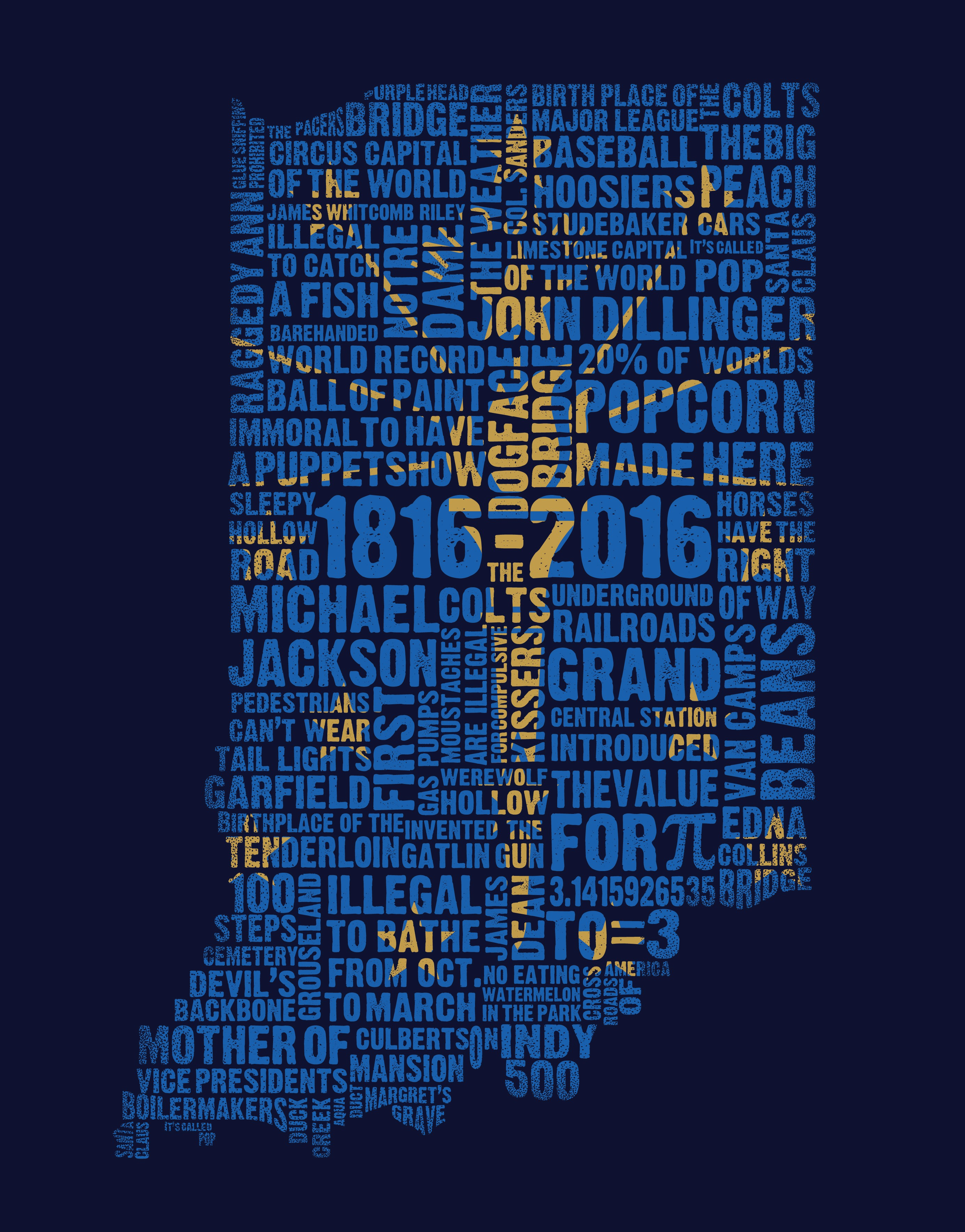 Create a Clean, Vintage and Classic T-Shirt for the Indiana Bicentennial