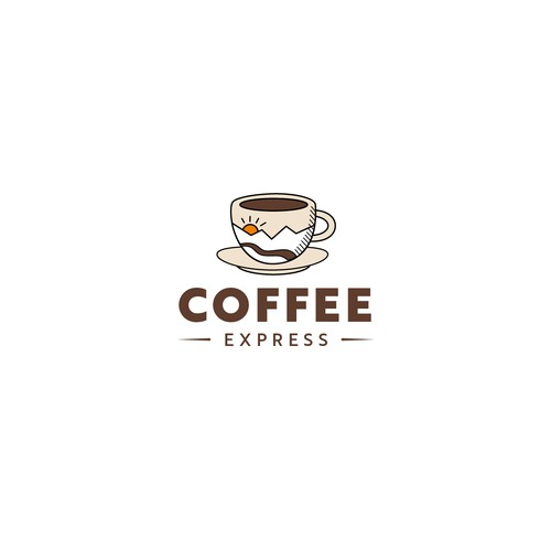 A logo design for a quick serve coffee restaurant in Alaska.