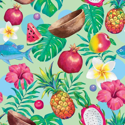 Tropical Logo and brand pattern