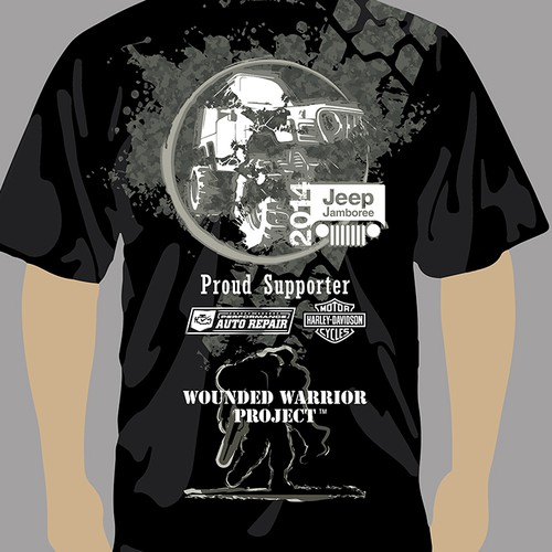 Jeep Jamboree T-shirt Design