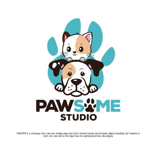 Fun logo for pets company
