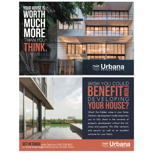 New postcard or flyer wanted for Urbana Developments