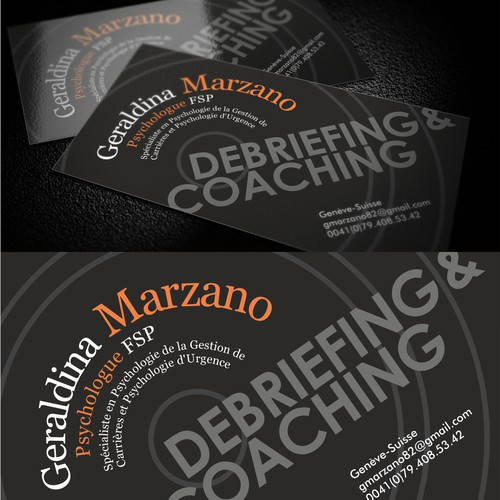 Business card design for Geraldina Marzano - Debriefing & Coaching
