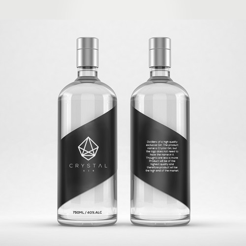 Photorealistic Bottle Label Design