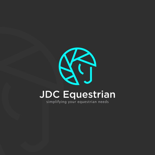 Logo for a horse photographer
