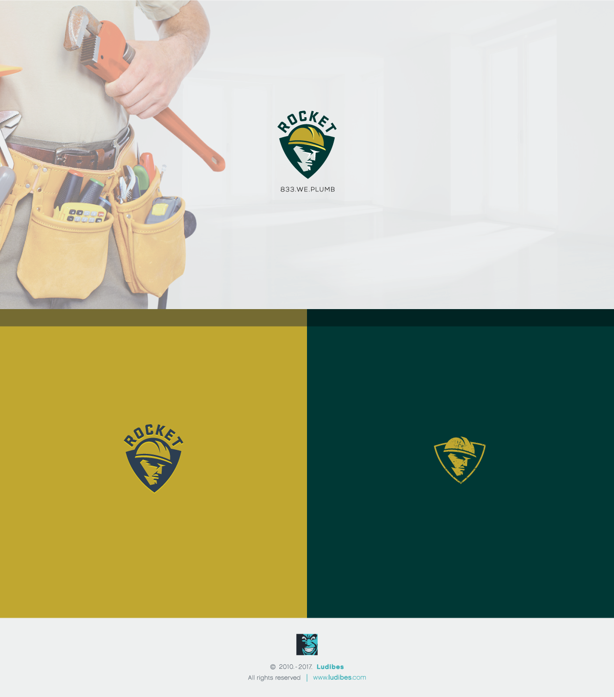 Rocket Plumbing Logo Design