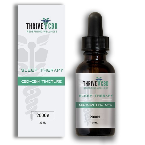 CBD tincture label and box