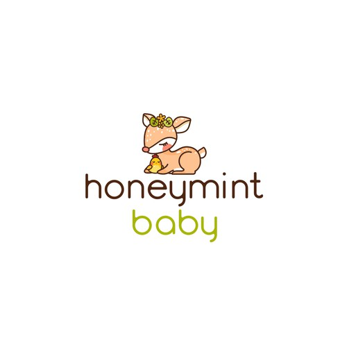 Cute logo for children and baby clothing brand