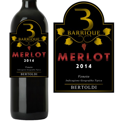 Bertoldi Barrique Merlot label 2