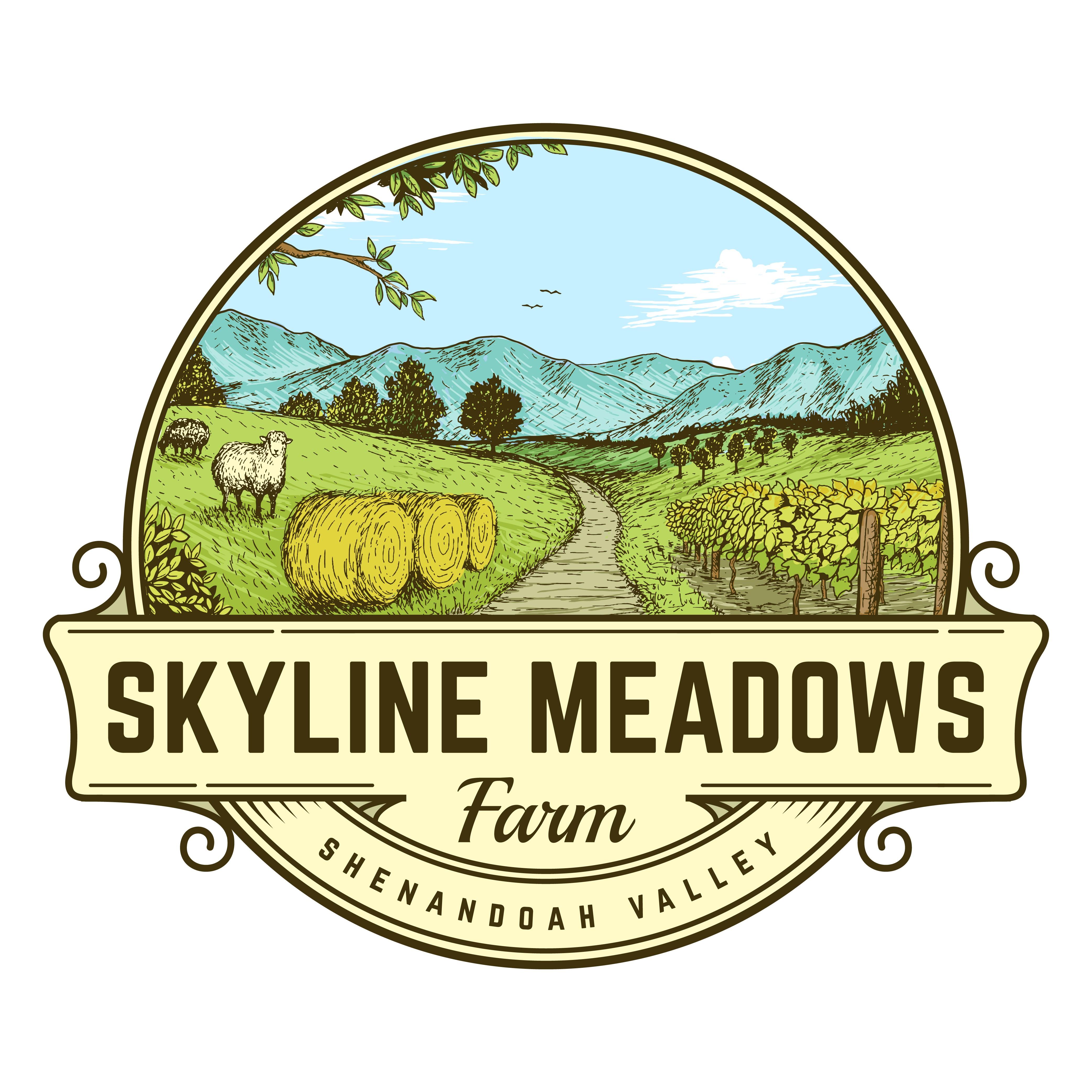 Skyline Meadows Farm - Farming Out Our Logo!