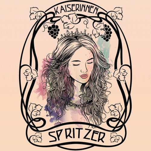 Art Nouveau label design