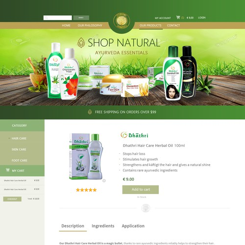 Ayurvedic Website Design