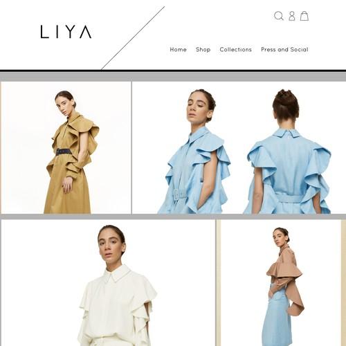 Homepage design for a fashion brand