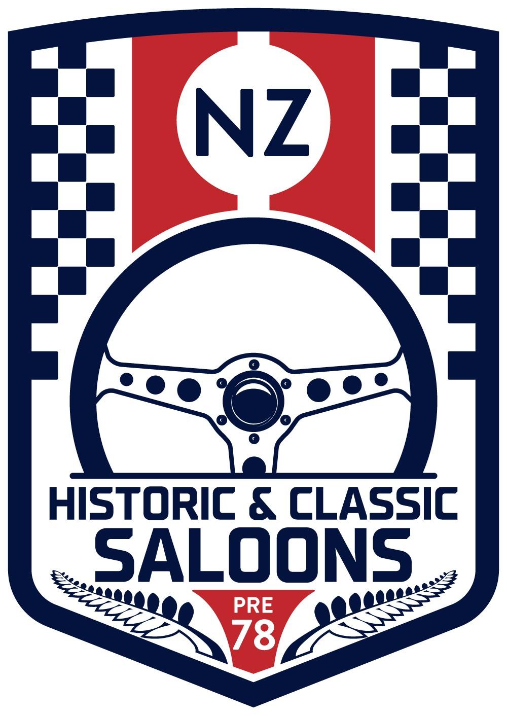 Historic race car logo for older guys in New Zealand