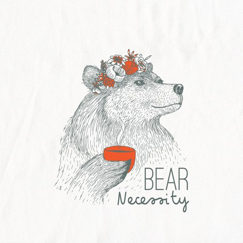Boho Bear illustration for In 2 The Nest