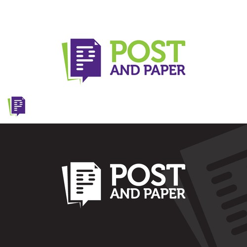 Post and Paper logo