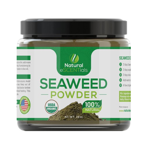 Seaweed Powder Label