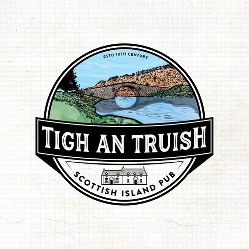 """Hand drawn Logo """"Tigh an Truish"""""""
