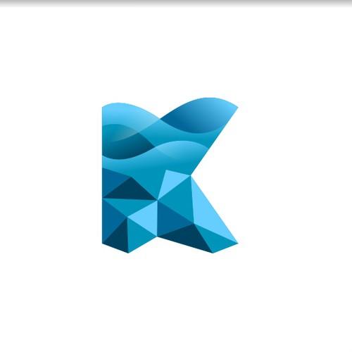 Logo concept for flow dynamics computing
